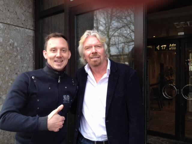 Ich und Richard Branson