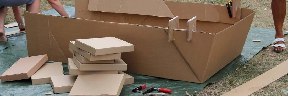 Aus Karton ein Pappboot bauen