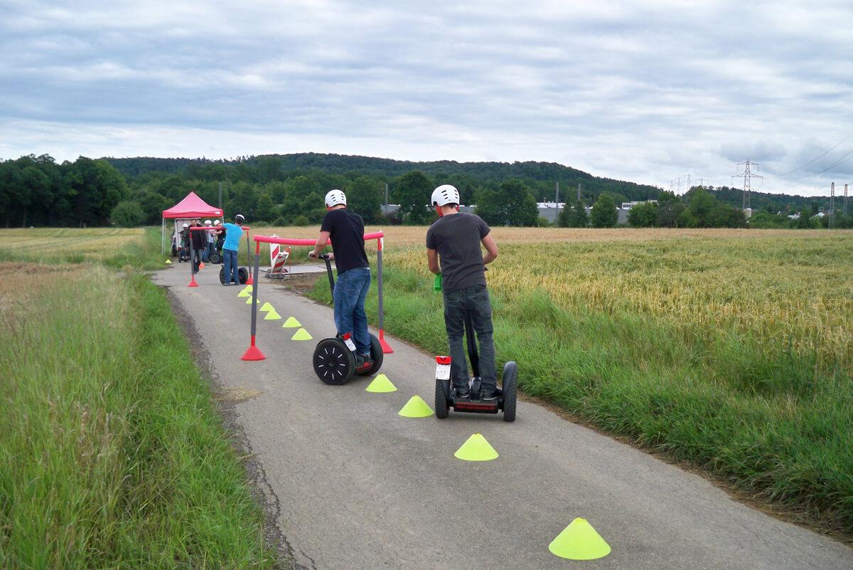 teamevent segway fahren betriebausflug