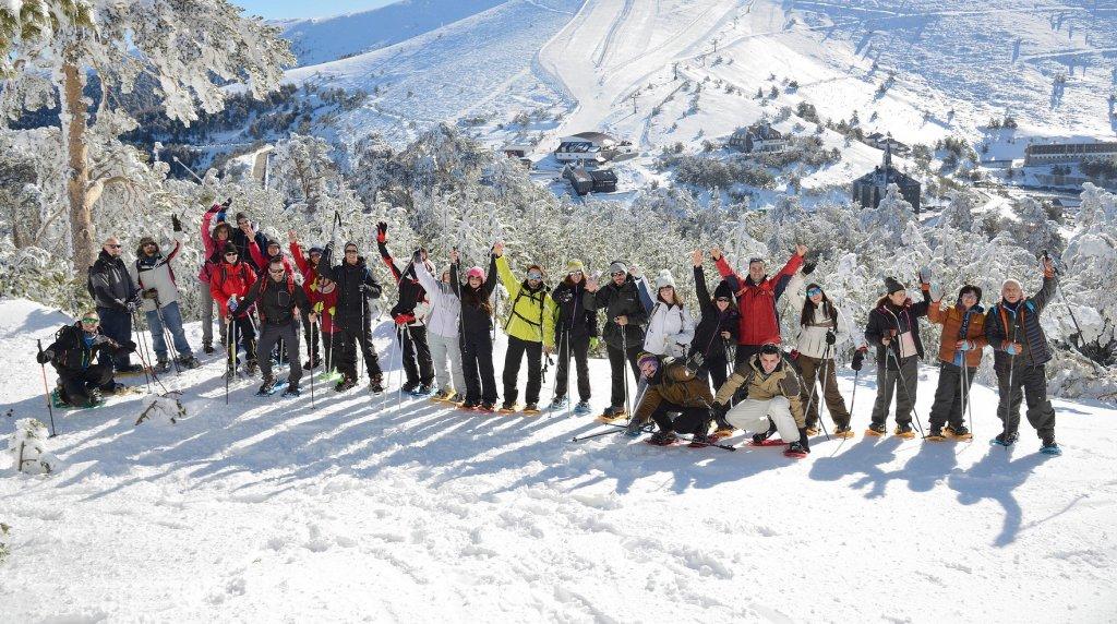 Schneeschuh laufen als Teamevent