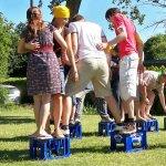 Kistenlauf und Teamentwicklung