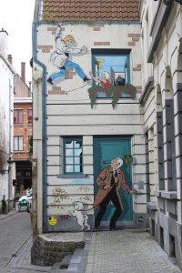 Comic Gemälde Brüssel