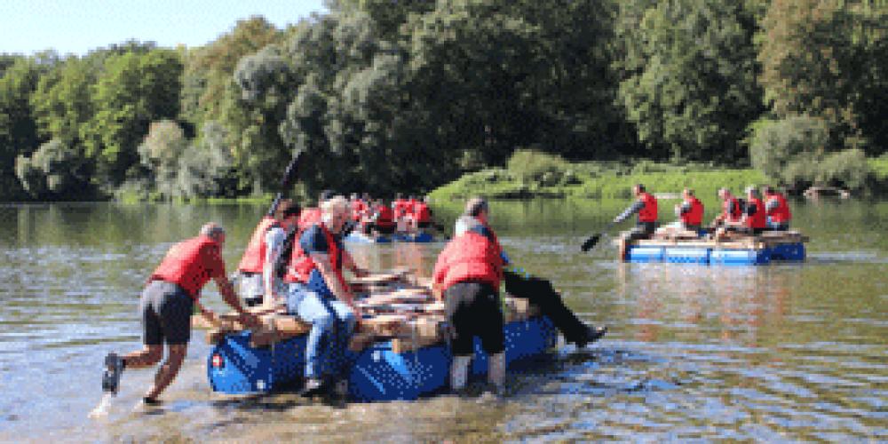 Floßbau und Floßfahrt